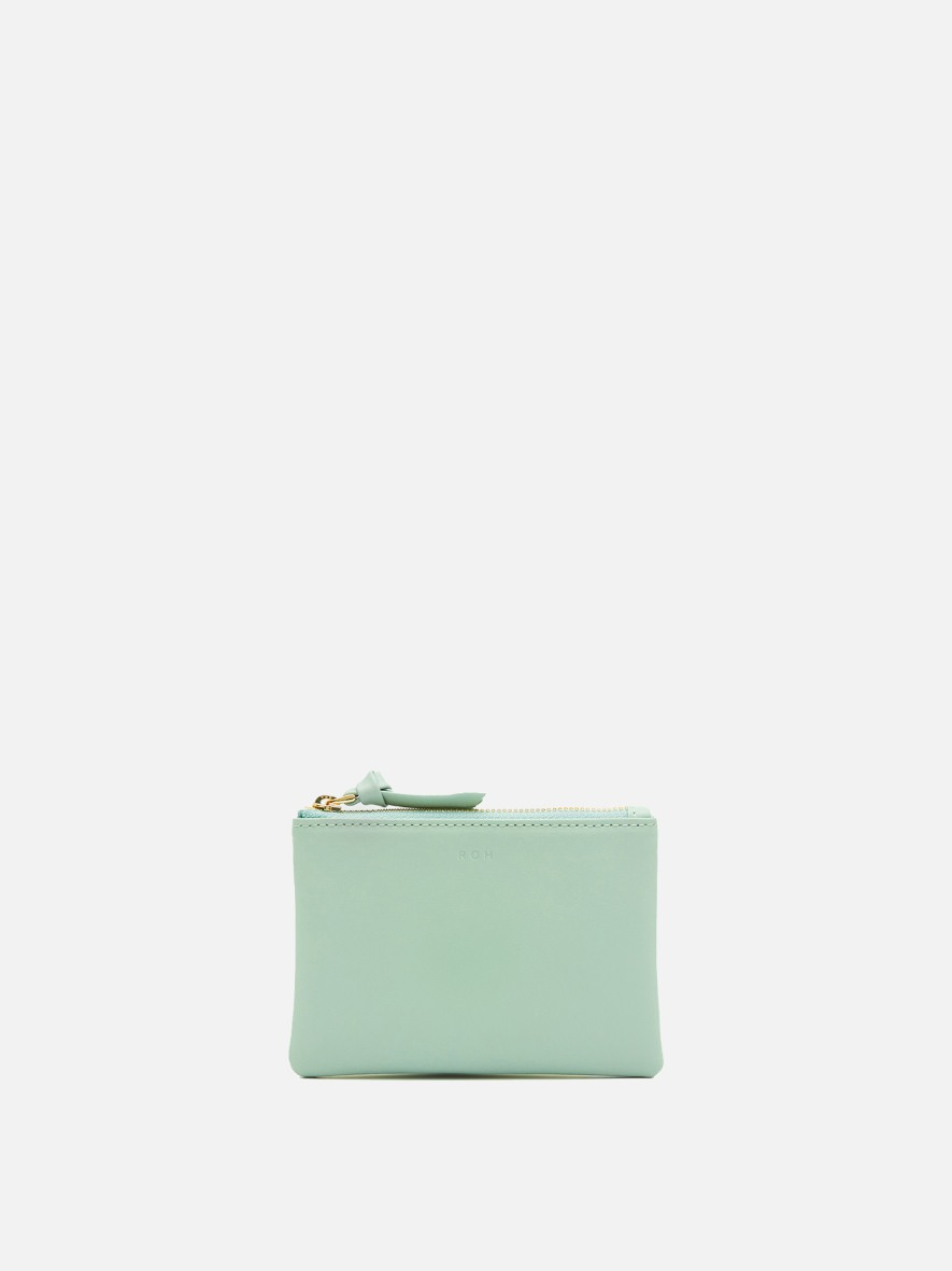 Square small zip wallet Dusty mint